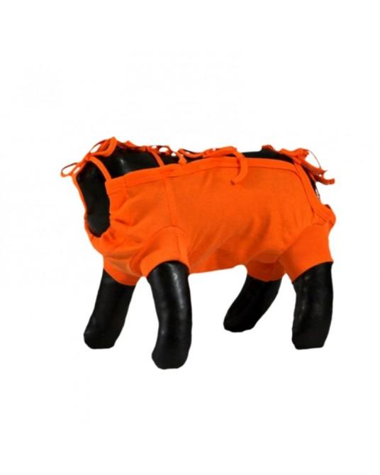 Schütz Hemd, OP Hemd für Hund oder Katze, orange