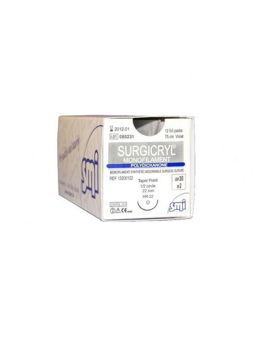 Surgicryl monofilament SMI, PDO, Außenschneidende Nadel