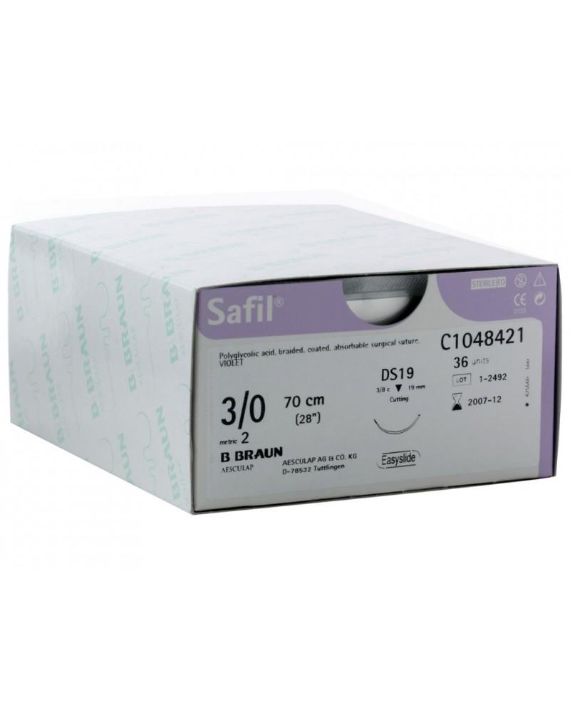 Safil violett, B Braun, Außenschneidende Nadel