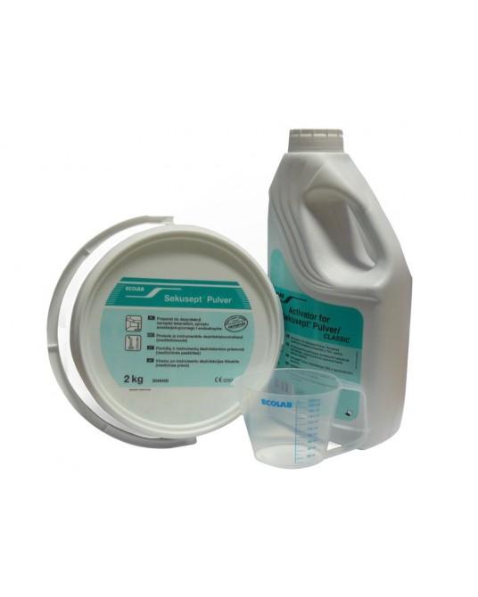 Sekusept Pulver + Aktivator zur Reinigung und Desinfektion von Instrumenten ECOLAB