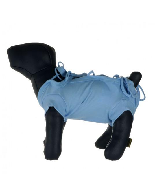 Schütz Hemd, OP Hemd für Hund oder Katze, blau