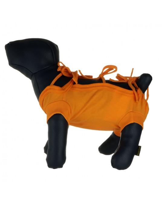 Schutzhemd, OP Hemd für Hund oder Katze, orange