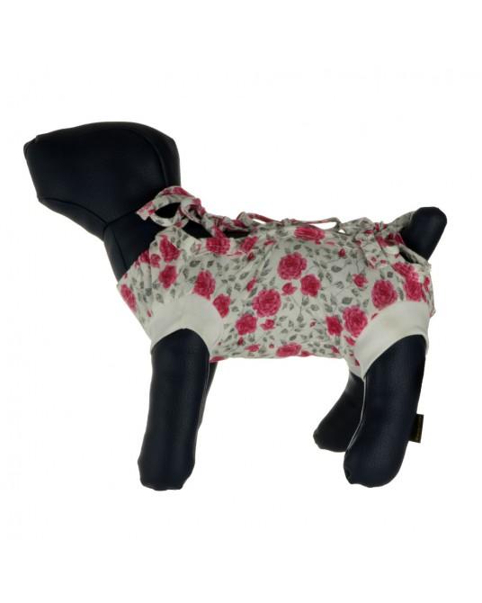Schutzhemd, OP Hemd für Hund oder Katze, geblümt