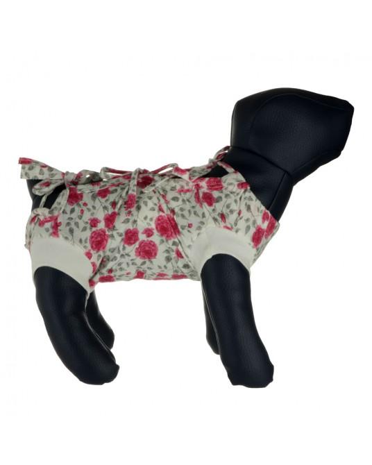 Schütz Hemd, OP Hemd für Hund oder Katze, geblümt