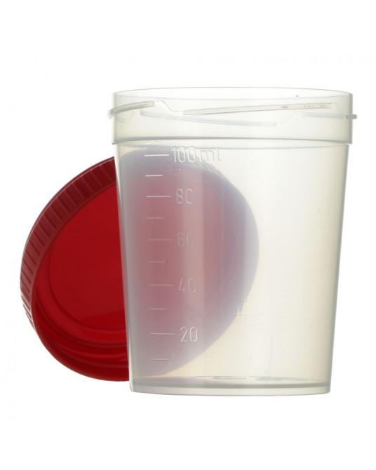 Urinbecher mit Schraubdeckel 100 ml, 100 St.