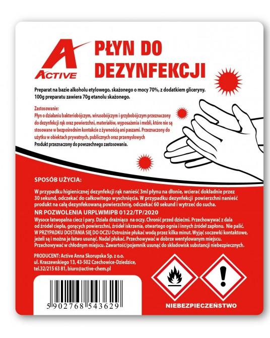 Hand- und Flächendesinfektionsmittel Active 5 l