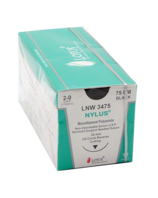Nylus®- nicht resorbierbare Fäden mit Nadel, 12 Beutel